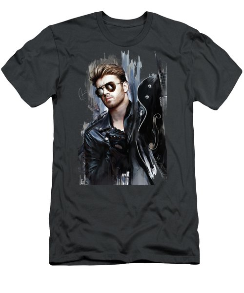 George Michael Singer Men's T-Shirt (Athletic Fit)