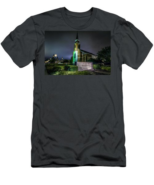 Men's T-Shirt (Athletic Fit) featuring the photograph George W Truett Seminary At Baylor University by David Morefield
