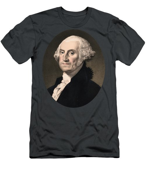 George Washington - Vintage Color Portrait Men's T-Shirt (Athletic Fit)