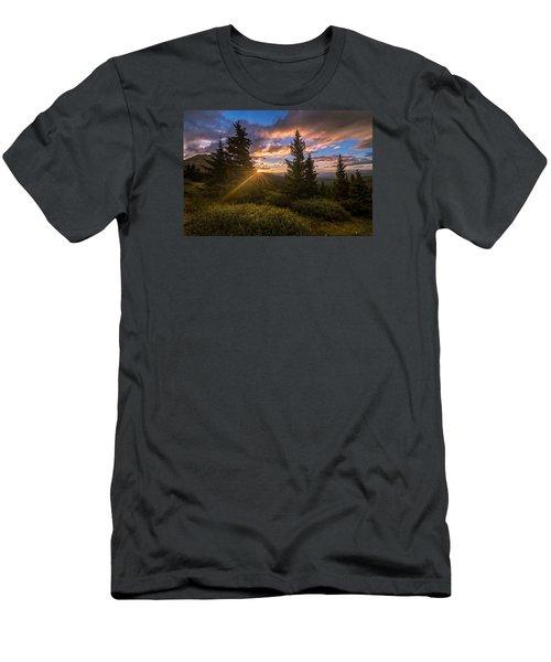 Georgia Pass Sun Rays Men's T-Shirt (Slim Fit) by Michael J Bauer