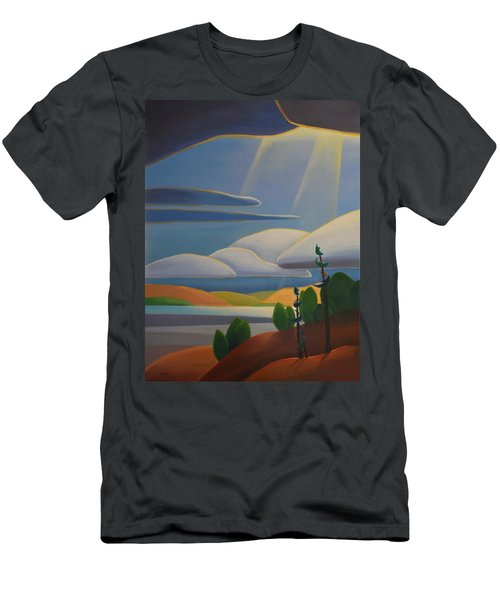 Georgian Shores - Left Panel Men's T-Shirt (Athletic Fit)