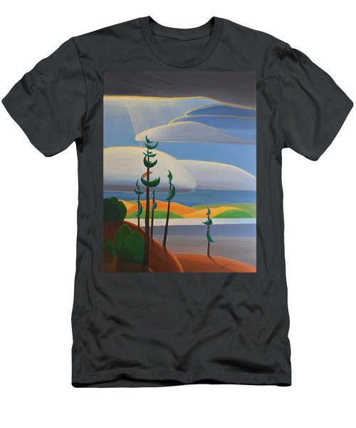 Georgian Shores - Right Panel Men's T-Shirt (Athletic Fit)