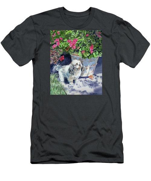 Georgie Men's T-Shirt (Slim Fit) by Irina Sztukowski