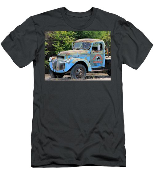 Geraine's Blue Truck Men's T-Shirt (Athletic Fit)