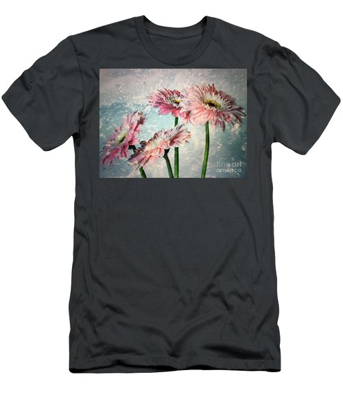 Gerbera Daisies With A Splash Men's T-Shirt (Athletic Fit)