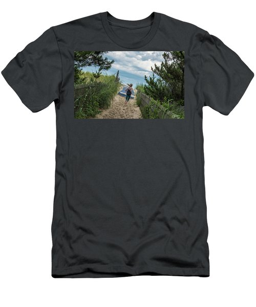 Get To The Beach Men's T-Shirt (Athletic Fit)