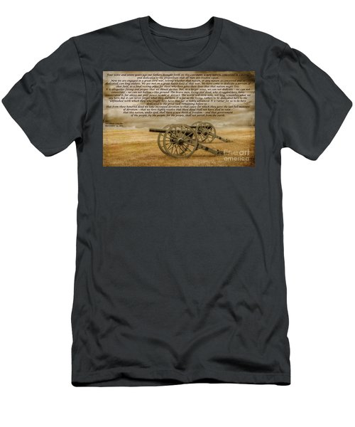 Gettysburg Address Cannon Men's T-Shirt (Athletic Fit)