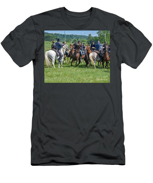 Gettysburg Cavalry Battle 7970c  Men's T-Shirt (Athletic Fit)