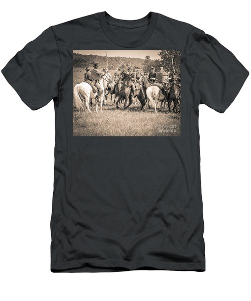 Gettysburg Cavalry Battle 7970s  Men's T-Shirt (Athletic Fit)