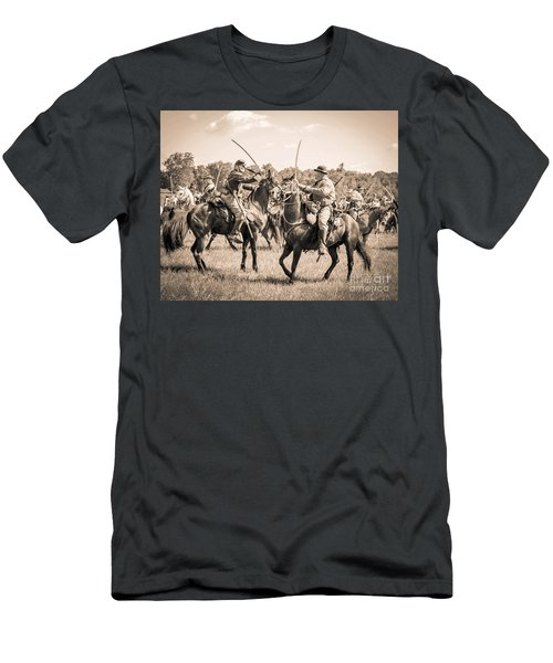 Gettysburg Cavalry Battle 7978s  Men's T-Shirt (Athletic Fit)