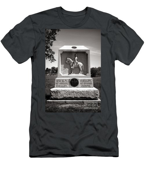 Gettysburg National Park 8th New York Cavalry Monument Men's T-Shirt (Athletic Fit)