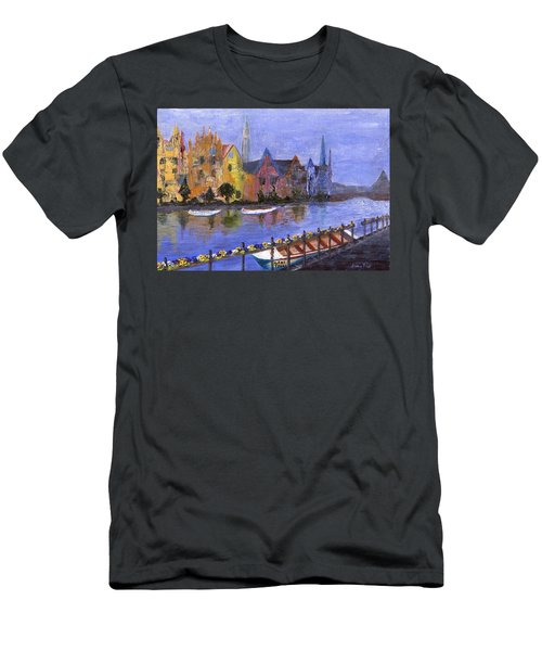 Men's T-Shirt (Athletic Fit) featuring the painting Ghent by Jamie Frier
