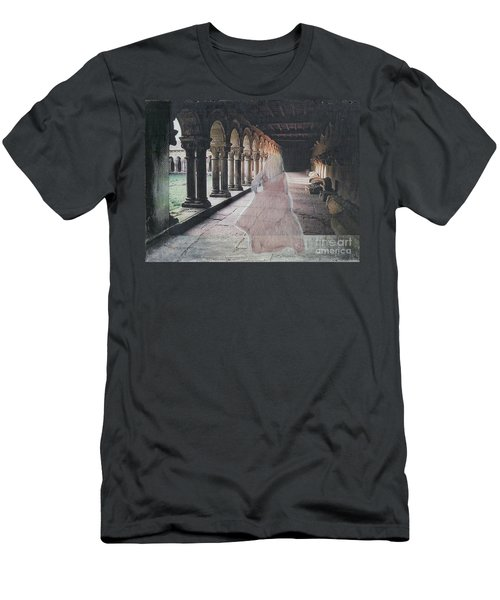 Men's T-Shirt (Slim Fit) featuring the mixed media Ghostly Adventures by Desiree Paquette