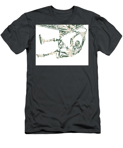 Giannis Antetokounmpo Milwaukee Bucks Pixel Art 20 Men's T-Shirt (Athletic Fit)