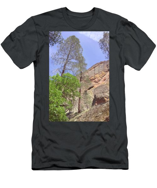 Men's T-Shirt (Slim Fit) featuring the photograph Giant Boulders by Art Block Collections