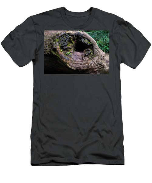 Men's T-Shirt (Athletic Fit) featuring the photograph Giant Knot In Tree by Scott Lyons