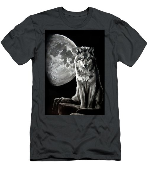 Gibbous Wolf Men's T-Shirt (Athletic Fit)