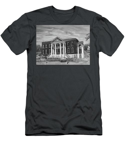 Gilmer County Old Courthouse - Black And White Men's T-Shirt (Athletic Fit)