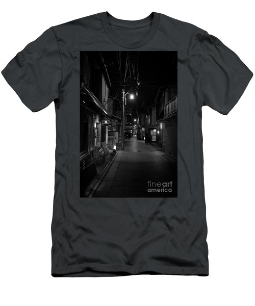 Gion Street Lights, Kyoto Japan Men's T-Shirt (Athletic Fit)