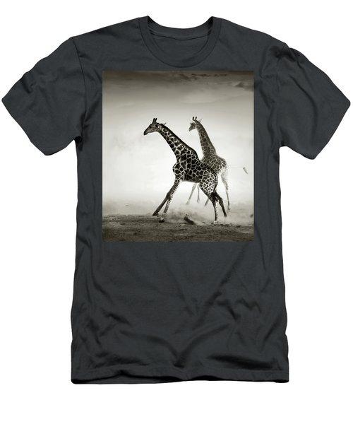 Giraffes Fleeing Men's T-Shirt (Athletic Fit)
