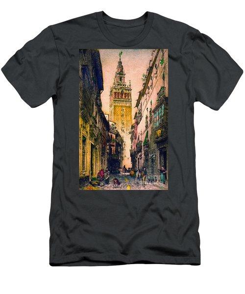 Giralda 1916 Men's T-Shirt (Slim Fit) by Padre Art