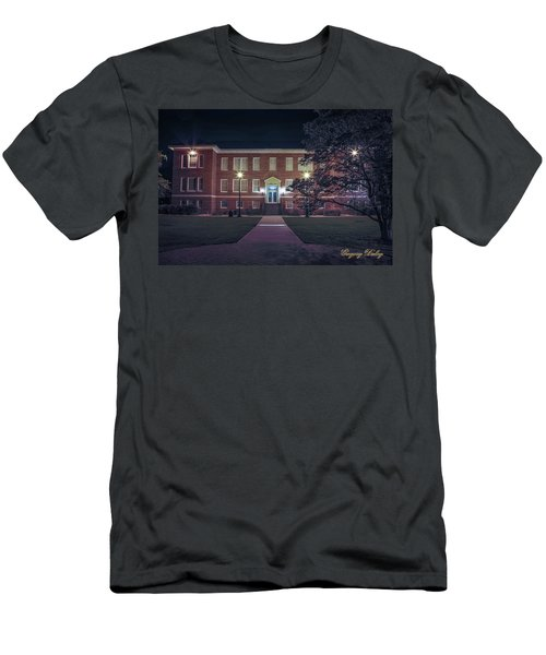 Men's T-Shirt (Slim Fit) featuring the photograph Girard Hall At Night by Gregory Daley  PPSA