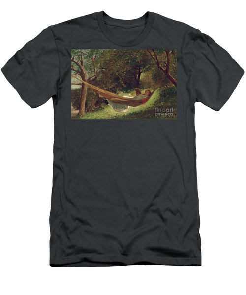 Girl In The Hammock Men's T-Shirt (Athletic Fit)