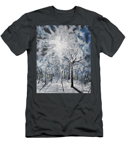 Girl In The Woods Men's T-Shirt (Athletic Fit)