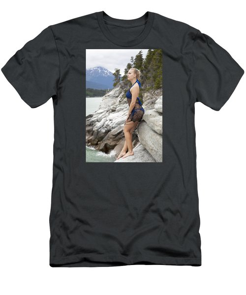 Girl On The Edge Men's T-Shirt (Athletic Fit)