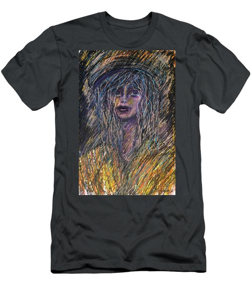 Girl With Hat Men's T-Shirt (Athletic Fit)