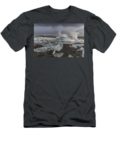 Glacial Lagoon Iceland 2 Men's T-Shirt (Slim Fit) by Kathy Adams Clark