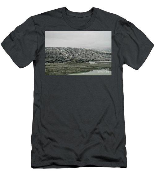 Glacier In Iceland Men's T-Shirt (Athletic Fit)