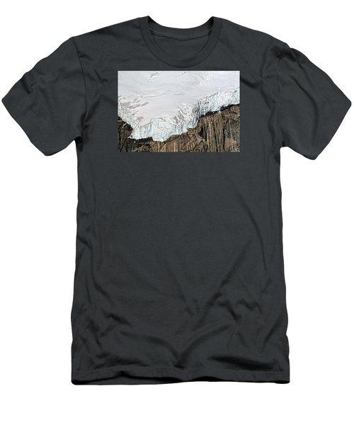 Glacier In Mt Denali Park Men's T-Shirt (Athletic Fit)