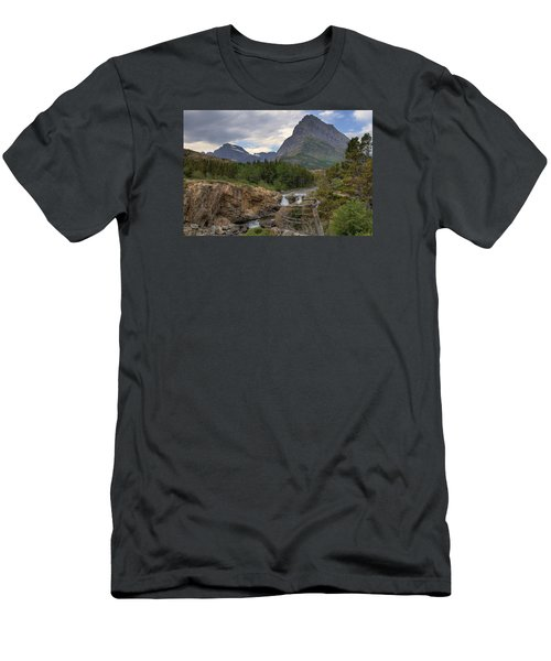 Glacier National Park Landscape Men's T-Shirt (Athletic Fit)