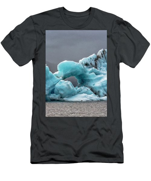 Men's T-Shirt (Athletic Fit) featuring the photograph Glacier With Hole by Tom Singleton