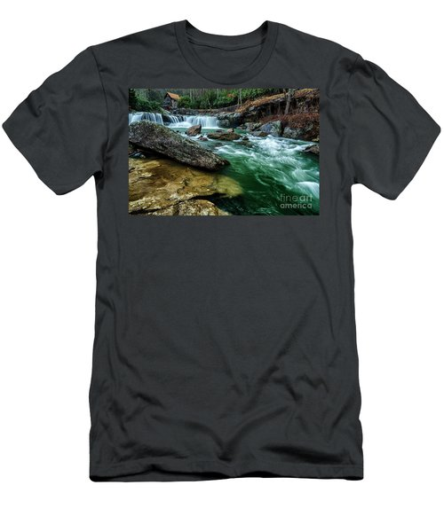 Glade Creek And Grist Mill Men's T-Shirt (Athletic Fit)