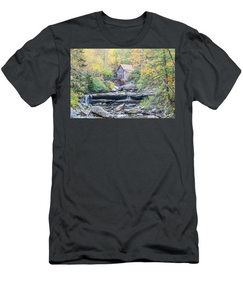 Glade Creek Grist Mill In Autumn Men's T-Shirt (Athletic Fit)