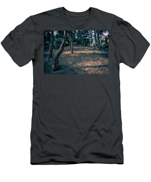 Glade In The Forest Of Colorado Men's T-Shirt (Slim Fit) by John Brink