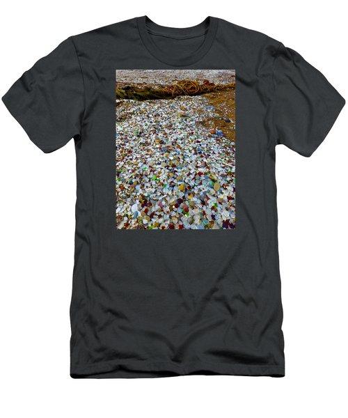 Glass Beach Men's T-Shirt (Slim Fit) by Amelia Racca