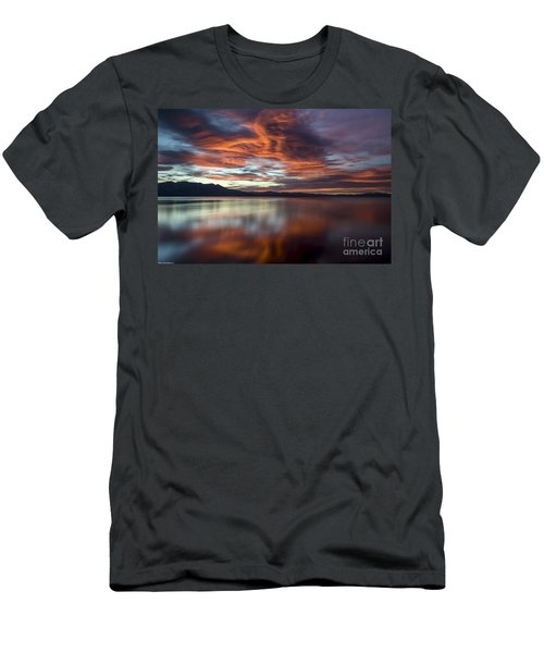 Men's T-Shirt (Slim Fit) featuring the photograph Glassy Tahoe by Mitch Shindelbower