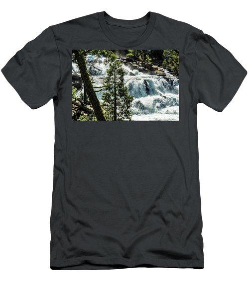 Glen Alpine Falls 1 Men's T-Shirt (Athletic Fit)
