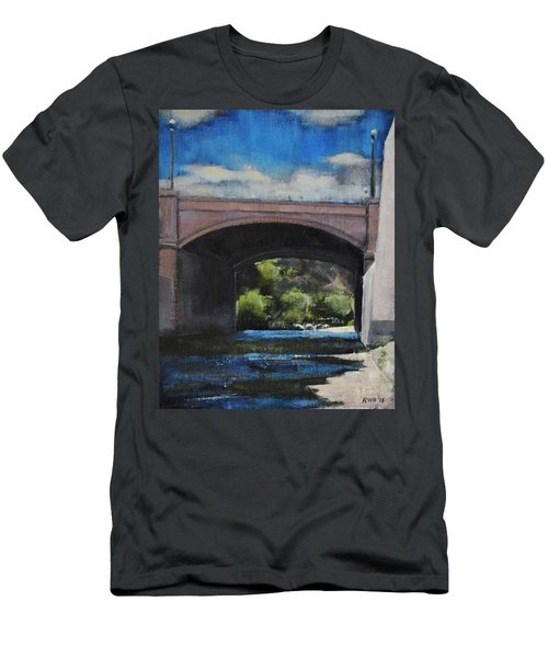 Glendale Bridge Men's T-Shirt (Slim Fit) by Richard Willson