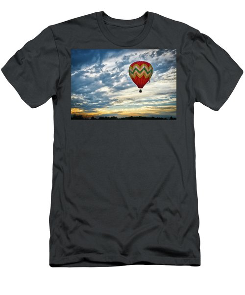 Gliding Through Sunset Men's T-Shirt (Athletic Fit)