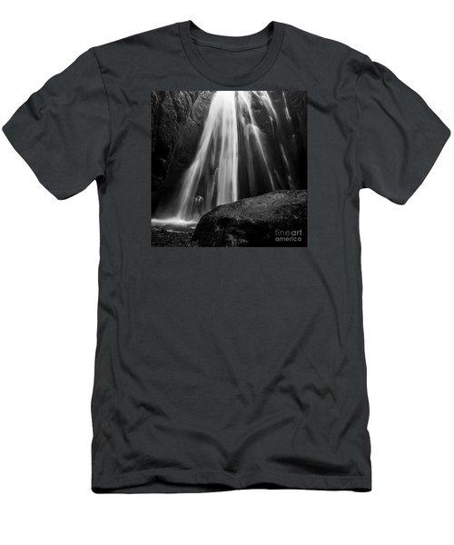 Gljufrabui Iceland Men's T-Shirt (Slim Fit) by Gunnar Orn Arnason