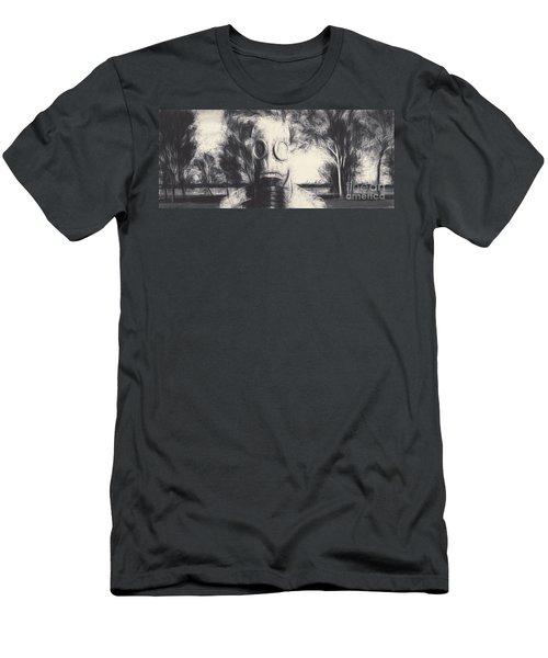 Vintage Gas Mask Terror Men's T-Shirt (Athletic Fit)