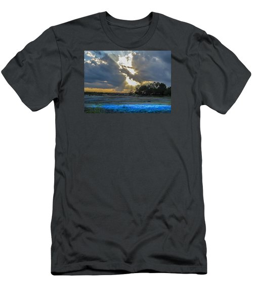 Da211 Glorious Bluebonnet Sunset By Daniel Adams Men's T-Shirt (Athletic Fit)