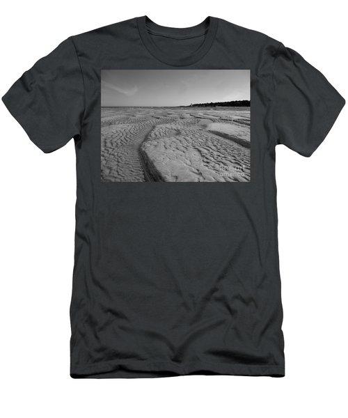 Gloucester Lighthouse Monocrhome Men's T-Shirt (Slim Fit) by Barbara Bardzik