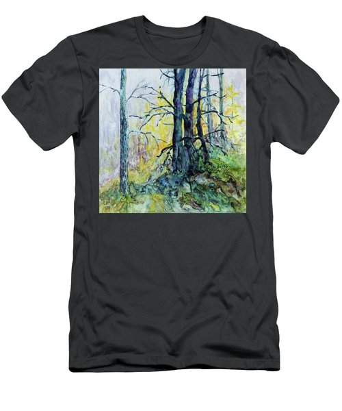 Men's T-Shirt (Slim Fit) featuring the painting Glow From The Tamarack by Joanne Smoley