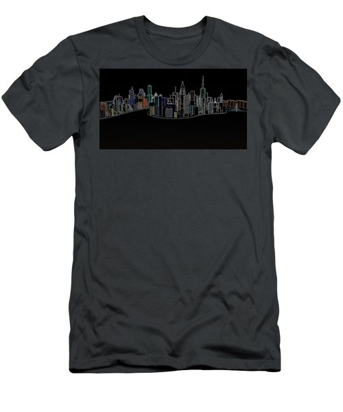 Glowing City Men's T-Shirt (Slim Fit) by Thomas M Pikolin