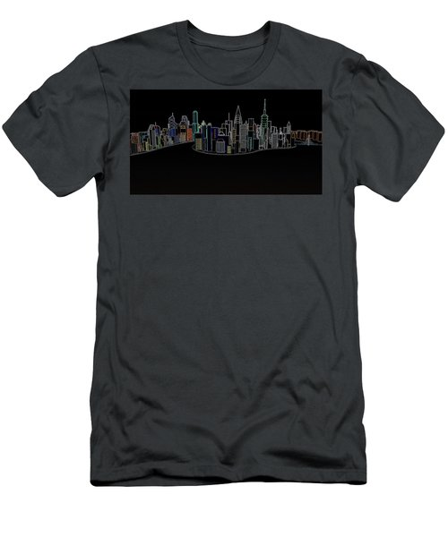 Glowing City Men's T-Shirt (Athletic Fit)